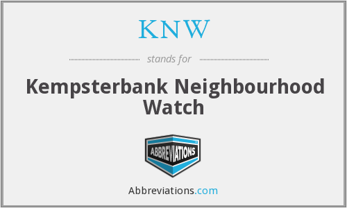 KNW - Kempsterbank Neighbourhood Watch