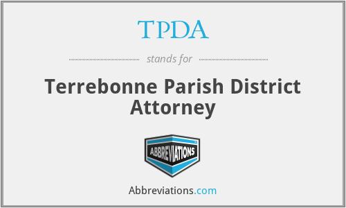 TPDA - Terrebonne Parish District Attorney