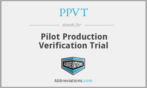 What does PPVT stand for?
