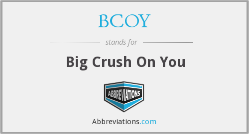 BCOY - Big Crush On You