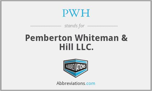PWH - Pemberton Whiteman & Hill LLC.