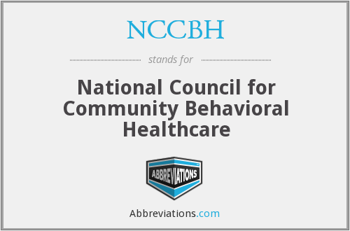 NCCBH - National Council for Community Behavioral Healthcare