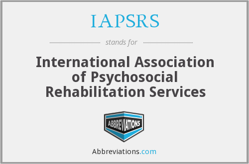 What does IAPSRS stand for?