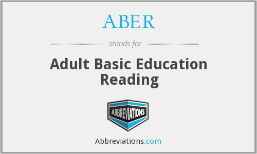 ABER - Adult Basic Education Reading