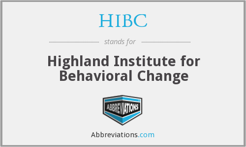 HIBC - Highland Institute for Behavioral Change