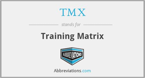 TMX - Training Matrix