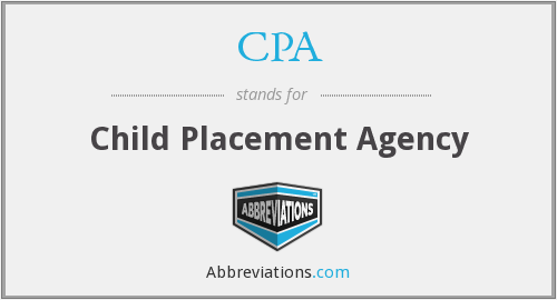 CPA - Child Placement Agency