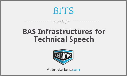 BITS - BAS Infrastructures for Technical Speech