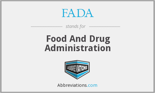 FADA - Food And Drug Administration