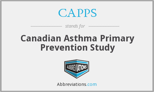 CAPPS - Canadian Asthma Primary Prevention Study