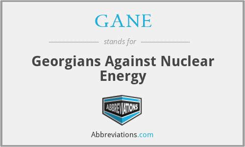 GANE - Georgians Against Nuclear Energy