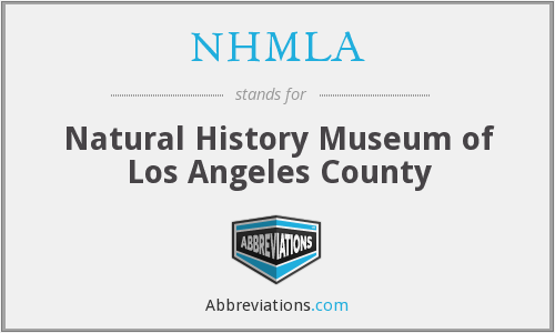 What does NHMLA stand for?