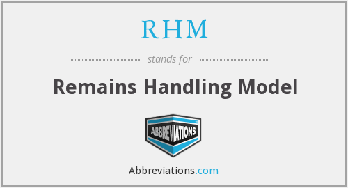 RHM - Remains Handling Model