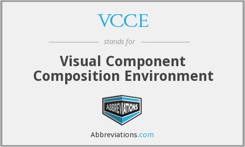 VCCE - Visual Component Composition Environment