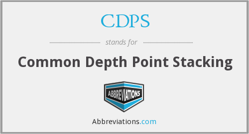 CDPS - Common Depth Point Stacking