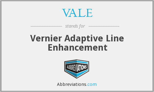 VALE - Vernier Adaptive Line Enhancement