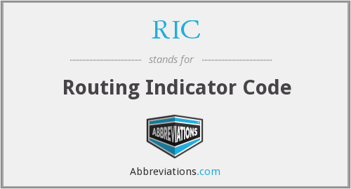 RIC - Routing Indicator Code