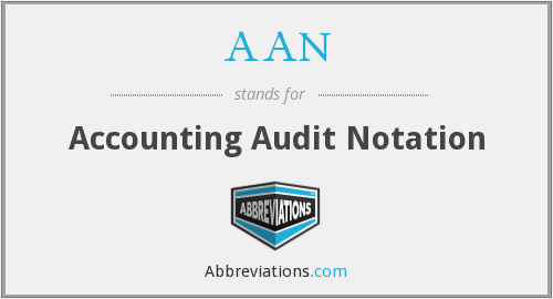 AAN - Accounting Audit Notation