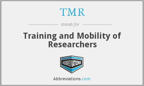 TMR - Training and Mobility of Researchers