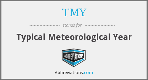 TMY - Typical Meteorological Year