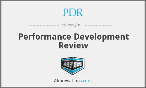 PDR - Performance Development Review