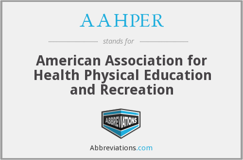 AAHPER - American Association for Health Physical Education and Recreation