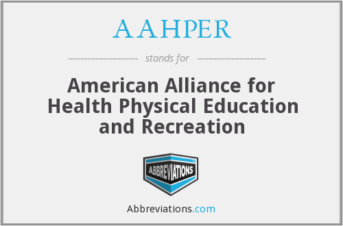 AAHPER - American Alliance for Health Physical Education and Recreation