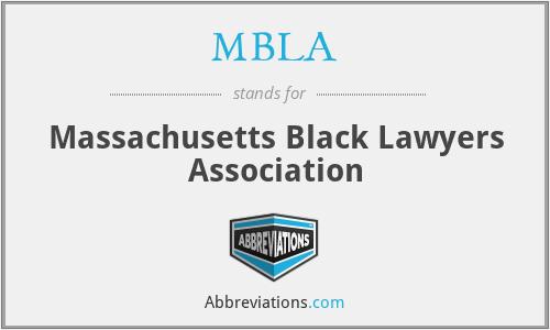 MBLA - Massachusetts Black Lawyers Association