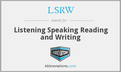 What does LSRW stand for?