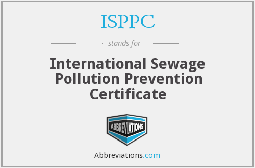 ISPPC - International Sewage Pollution Prevention Certificate