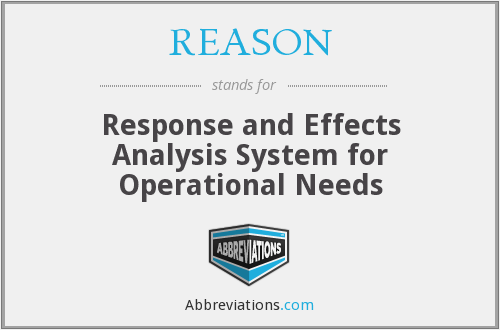 REASON - Response and Effects Analysis System for Operational Needs