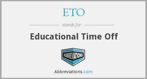 ETO - Educational Time Off