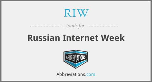 RIW - Russian Internet Week