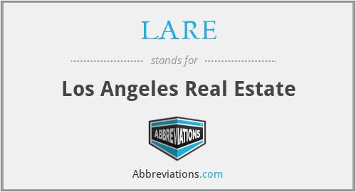 LARE - Los Angeles Real Estate