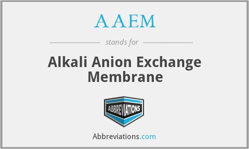 AAEM - Alkali Anion Exchange Membrane