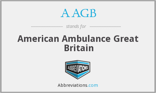 What does AAGB stand for?