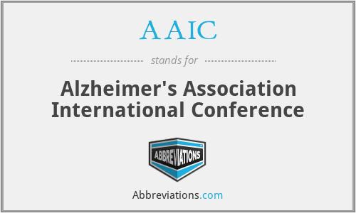 AAIC - Alzheimer's Association International Conference