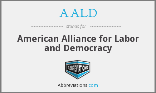 What does AALD stand for?