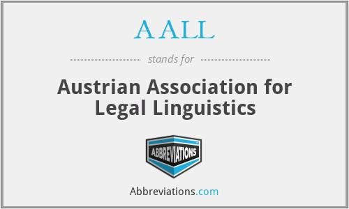 AALL - Austrian Association for Legal Linguistics
