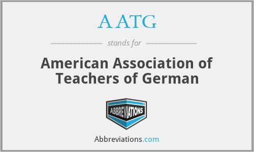 AATG - American Association of Teachers of German