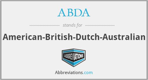ABDA - American-British-Dutch-Australian