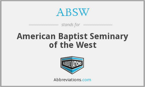 ABSW - American Baptist Seminary of the West