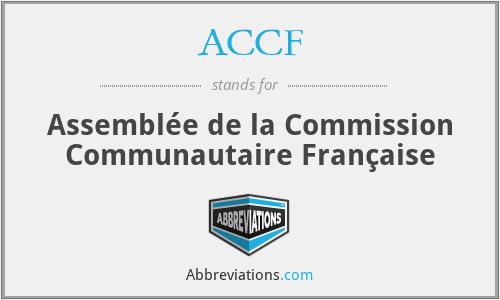 ACCF - Assemblée de la Commission Communautaire Française