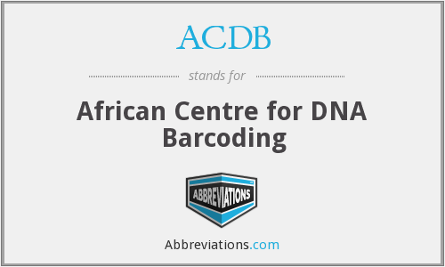 ACDB - African Centre for DNA Barcoding