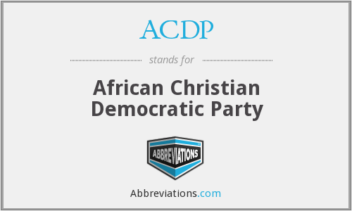 ACDP - African Christian Democratic Party