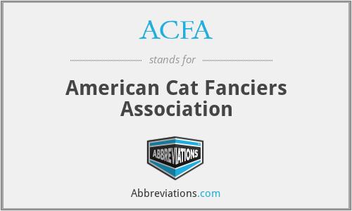 ACFA - American Cat Fanciers Association