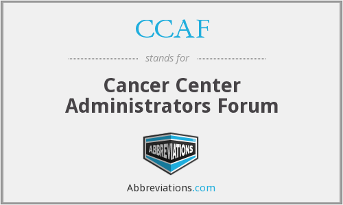 CCAF - Cancer Center Administrators Forum