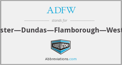 What does ADFW stand for?