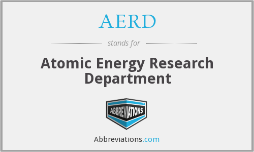AERD - Atomic Energy Research Department