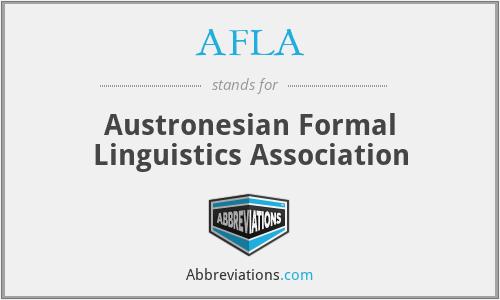 AFLA - Austronesian Formal Linguistics Association